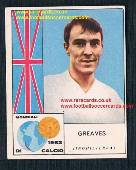 1960s Italian gum card Jimmy Greaves Spurs Chelsea WHU England